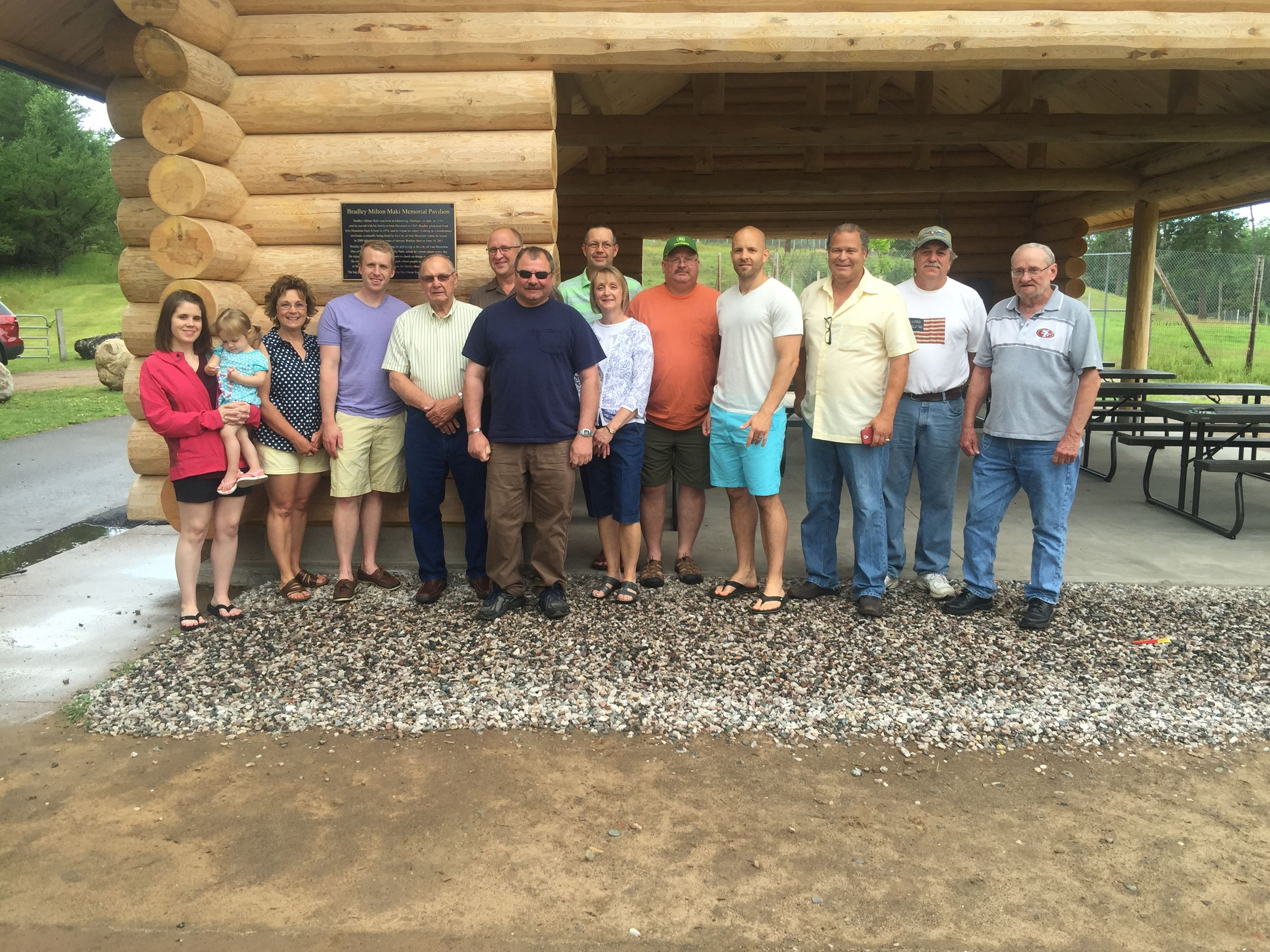 Group of people at pavillion dedication July 18 2015